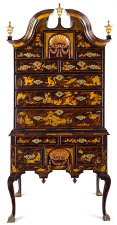 High chest of drawers, Pimm, John, cabinetmaker, 1716-1773